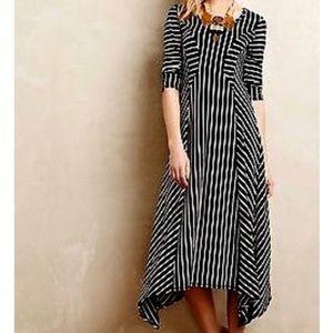 Anthropologie Saturday Sunday Striped Midi Dress.